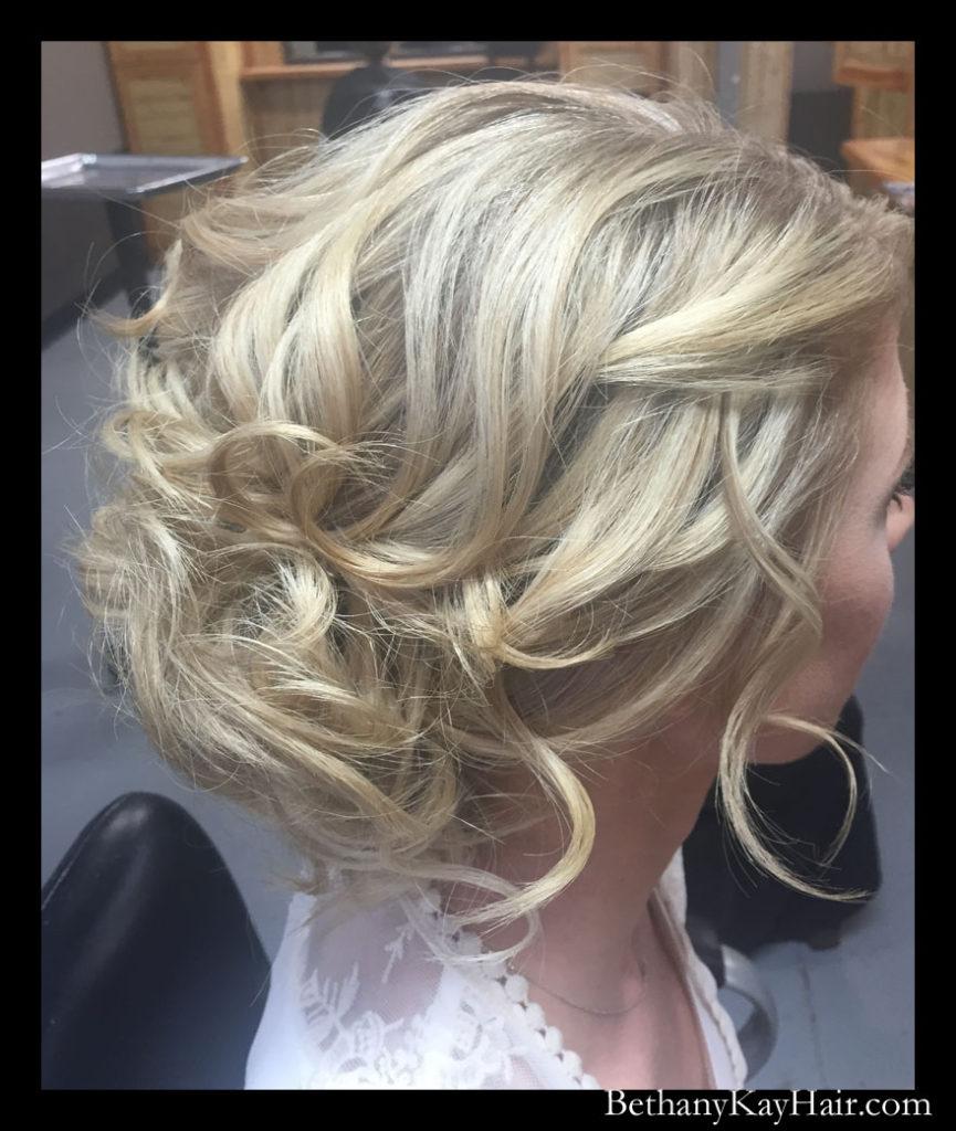 gorgeous wedding hair, simple and elegant hair